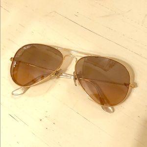Ray-van Aviator -gold frame pink lense